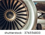 Aircraft Engine Close Up. Colo...