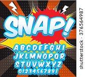 creative high detail comic font.... | Shutterstock .eps vector #376564987