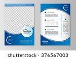 vector flyer template design... | Shutterstock .eps vector #376567003