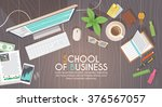 a business activity. workplace. ... | Shutterstock .eps vector #376567057