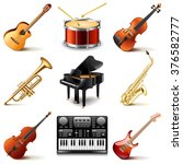 Musical Instruments Icons Phot...