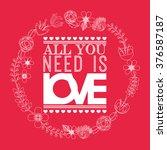 love card design  | Shutterstock .eps vector #376587187