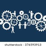 gears concept design  | Shutterstock .eps vector #376593913