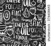 sweet fondue seamless pattern... | Shutterstock .eps vector #376608643