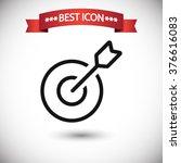 target icon vector | Shutterstock .eps vector #376616083