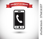 phone icon vector | Shutterstock .eps vector #376616107