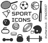 vector sport icons. sports... | Shutterstock .eps vector #376620037