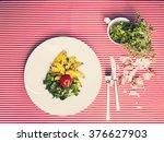 the healthy food   vegetarian... | Shutterstock . vector #376627903