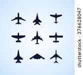 airplane icons set  passenger... | Shutterstock .eps vector #376628047
