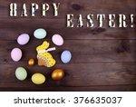 easter rabbit and easter egg | Shutterstock . vector #376635037