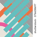 abstract retro 80s background... | Shutterstock .eps vector #376638697