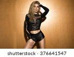 romantic blonde young woman... | Shutterstock . vector #376641547