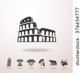 set of italy freehand icons   ... | Shutterstock .eps vector #376654777