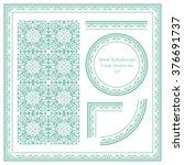 vintage frame pattern set 187... | Shutterstock .eps vector #376691737