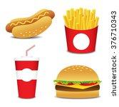 set of cartoon vector food... | Shutterstock .eps vector #376710343