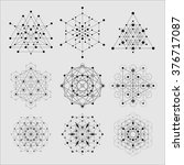 sacred geometry vector design... | Shutterstock .eps vector #376717087