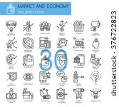 market and economy   thin line... | Shutterstock .eps vector #376722823