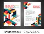 abstract vector modern flyers... | Shutterstock .eps vector #376723273