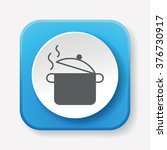 pot icon | Shutterstock .eps vector #376730917