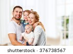 happy family mother  father and ... | Shutterstock . vector #376738567