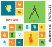 school and education icon set.... | Shutterstock .eps vector #376752283