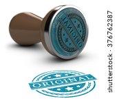 rubber stamp over white... | Shutterstock . vector #376762387