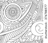 hand drawn vector doodles ... | Shutterstock .eps vector #376788577