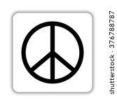 peace sign    black vector icon | Shutterstock .eps vector #376788787