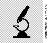 microscope sign. flat style... | Shutterstock .eps vector #376798573