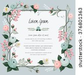 Vector illustration of a beautiful floral vine border with spring flowers for invitations and birthday cards