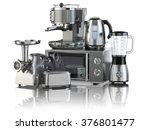 kitchen appliances. blender ... | Shutterstock . vector #376801477
