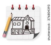 doodle house   Shutterstock .eps vector #376804393