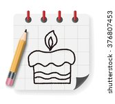 doodle cake   Shutterstock .eps vector #376807453