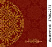 card with mandala. vector... | Shutterstock .eps vector #376812373
