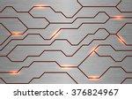 seamless vector futuristic... | Shutterstock .eps vector #376824967