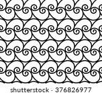geometric monochrome wave sea... | Shutterstock .eps vector #376826977