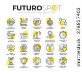 stroke line icons set of doing... | Shutterstock .eps vector #376827403