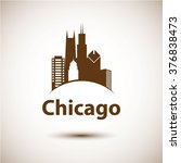 Chicago Usa Skyline Silhouette...