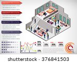 illustration of info graphic... | Shutterstock .eps vector #376841503