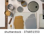 metalic solvent paint in cans... | Shutterstock . vector #376851553