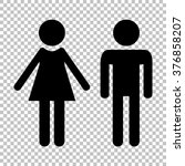 male and female sign. flat... | Shutterstock .eps vector #376858207
