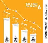 oil price falling down graph... | Shutterstock .eps vector #376867813