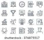 education  school icon set... | Shutterstock .eps vector #376875517