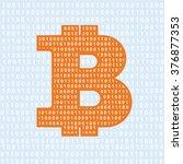 vector bitcoin symbol.... | Shutterstock .eps vector #376877353