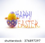 realistic easter egg and... | Shutterstock .eps vector #376897297