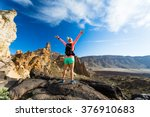 Woman Hiker With Arms...
