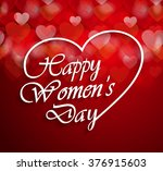 womens day logo on red... | Shutterstock .eps vector #376915603