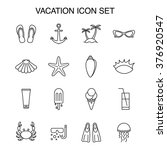 set of 16 line art icons about... | Shutterstock .eps vector #376920547