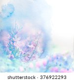 watercolor card with beautiful... | Shutterstock . vector #376922293