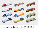 Isometric Cargo Trucks...